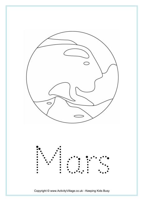 Mars Word Tracing