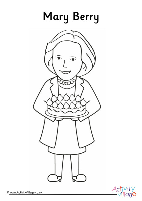Mary Berry Colouring Page
