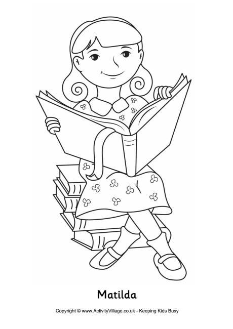 Matilda Colouring Page
