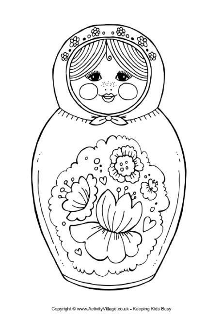 Matryoshka Doll Colouring Page 2