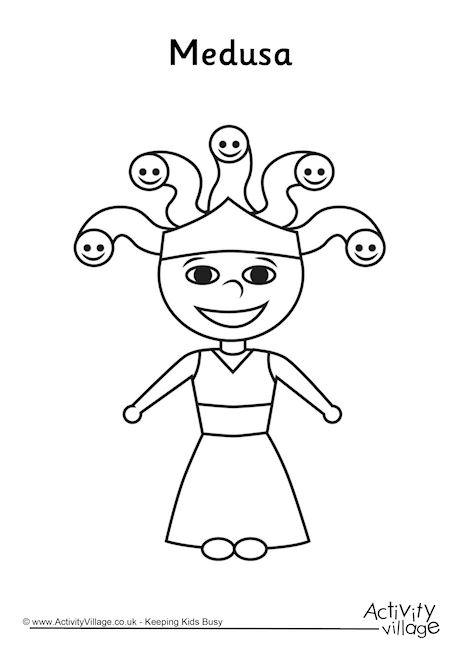 Medusa Colouring Page