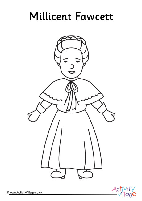 Millicent Fawcett Colouring Page