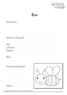 Minibeast Acrostic Poem Printables