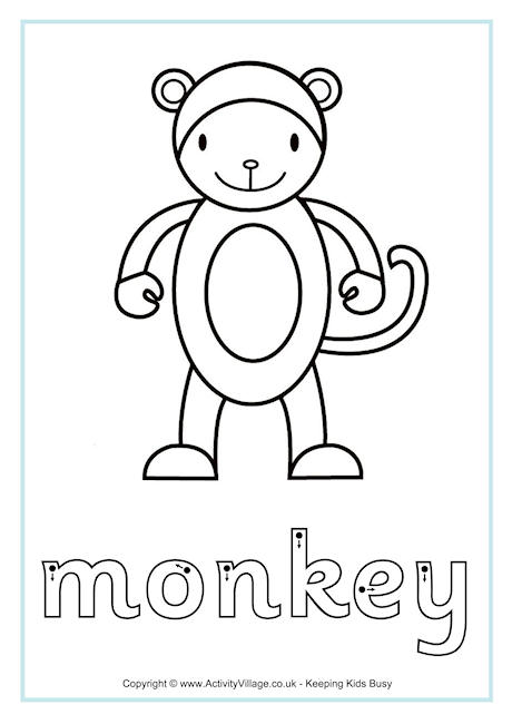 Monkey Pictures For Kids Activity