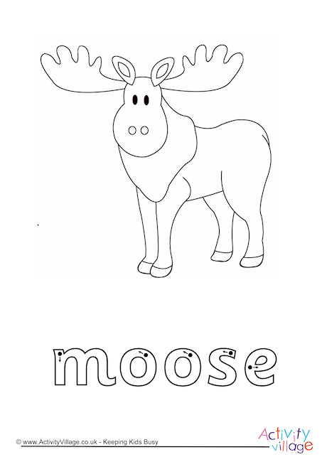 Moose Finger Tracing