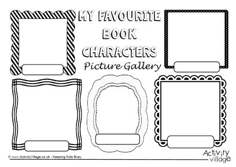 My Favourite Book Characters Picture Gallery