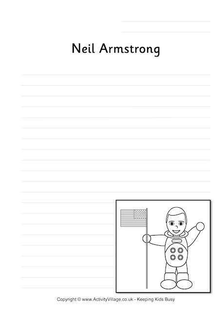 Neil Armstrong Writing Page