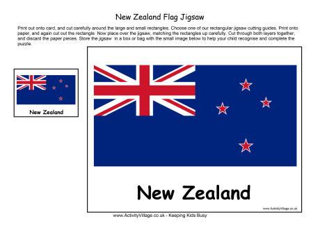 New Zealand Flag Jigsaw