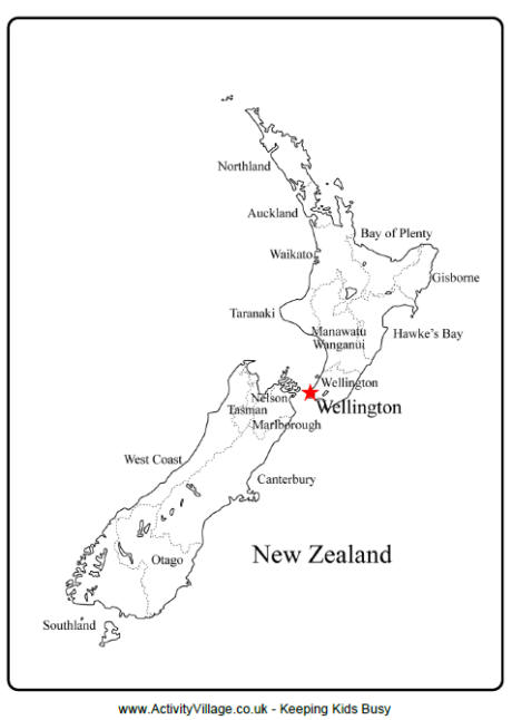 New Zealand Outline Map