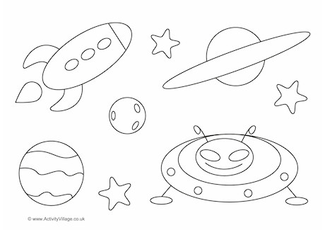 Ovals Colouring Page