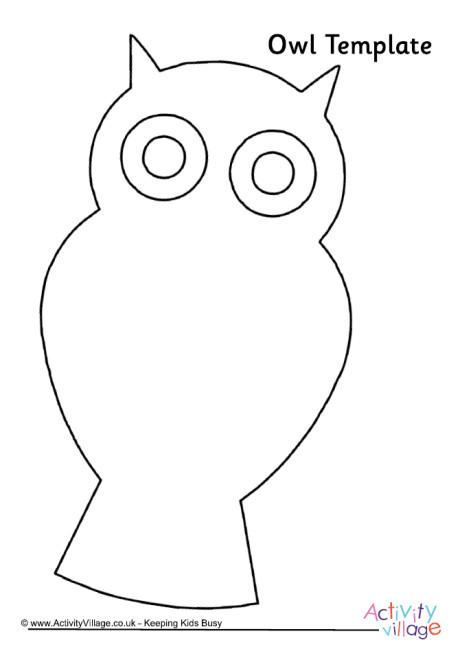 Owl Template 4