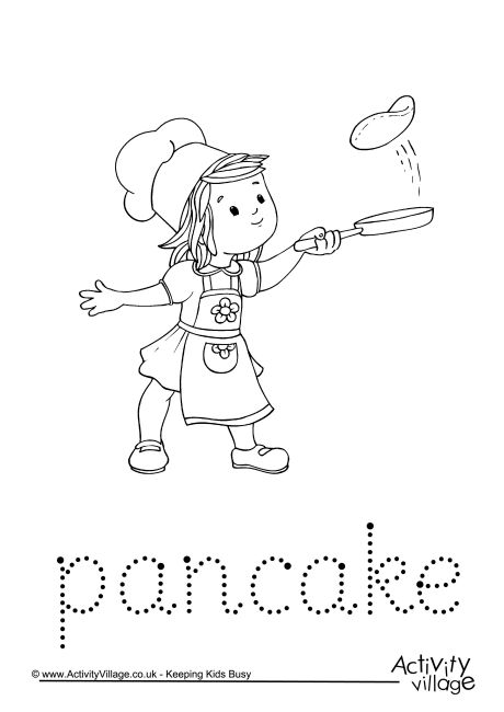 Pancake Word Tracing