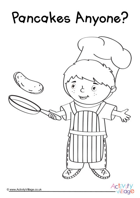 Pancakes Anyone Colouring Page