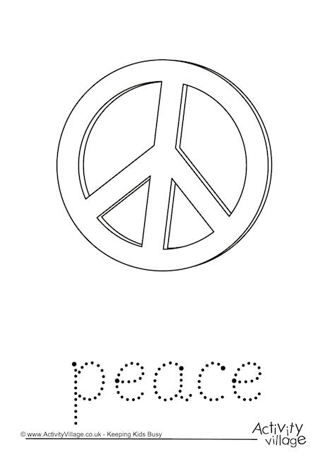 Peace Word Tracing