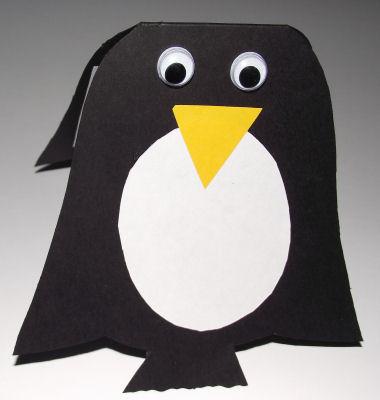 Penguin Cards For Kids To Make