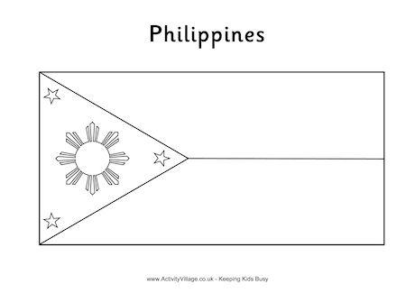 Thailand Flag Coloring Sheet Coloring Page for kids