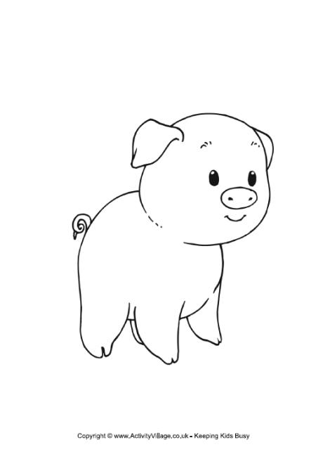 Piglet Colouring Page