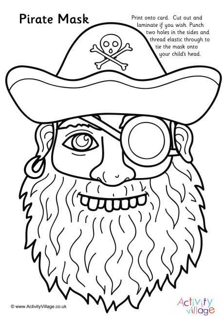 Pirate Colouring Mask