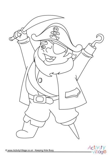 Pirate Colouring Page 3