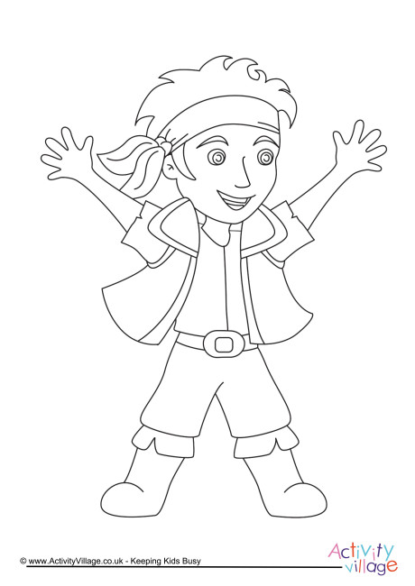 Pirate Colouring Page 4