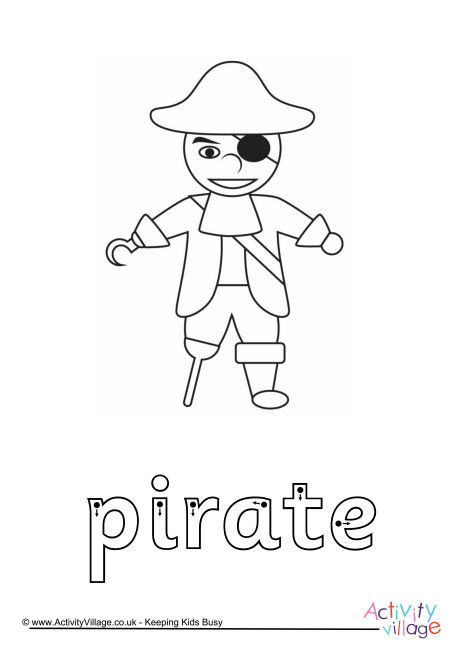 Pirate Finger Tracing