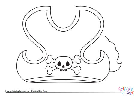 Pirate Hat Colouring Page
