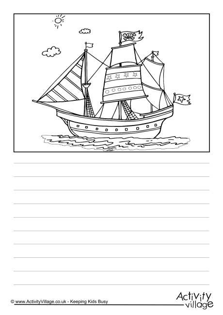 Pirate Ship Story Paper 2