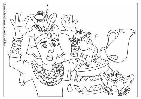 Plague of Frogs Colouring Page