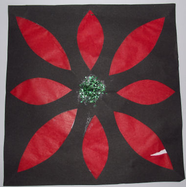 Poinsettia Picture For Kids To Make