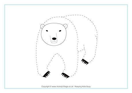 Polar Bear Tracing Page
