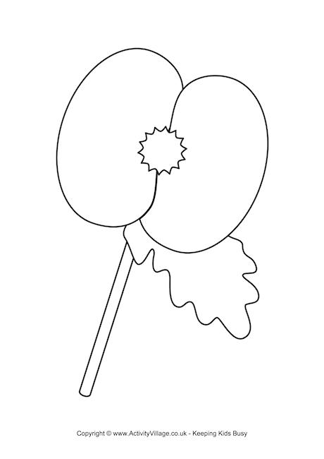 Poppy Colouring Page 2