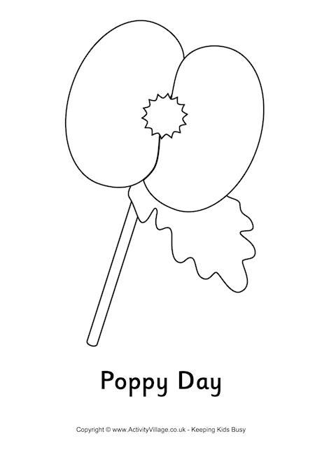 ALBORÁN ENGLISH CLUB: Colour the poppy and celebrate it
