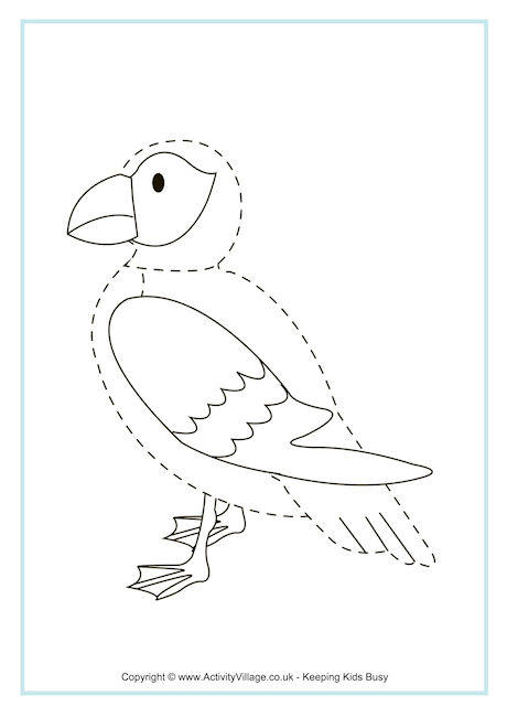 Puffin Tracing Page