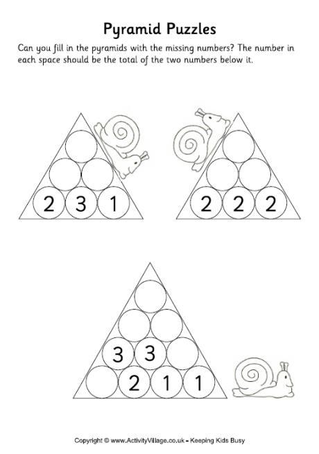 Pyramid Puzzles Easy 2