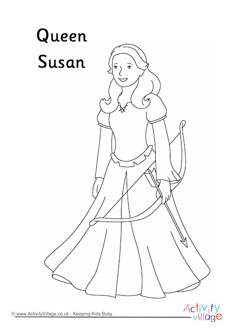 Queen Susan Colouring Page
