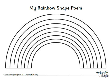 Rainbow Shape Poem Template