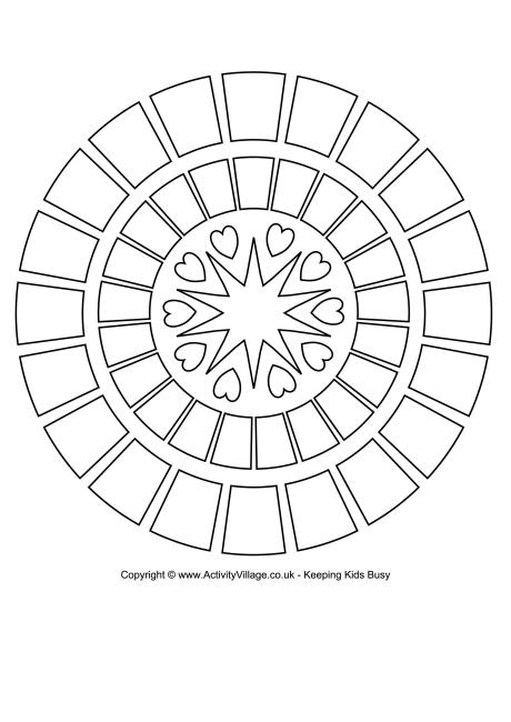 Rangoli Colouring Page 2