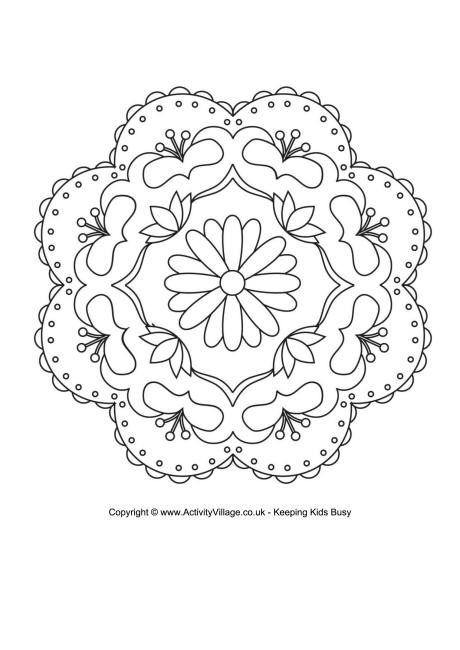 Rangoli Colouring Page 3