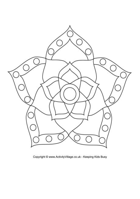 Rangoli Colouring Page 6