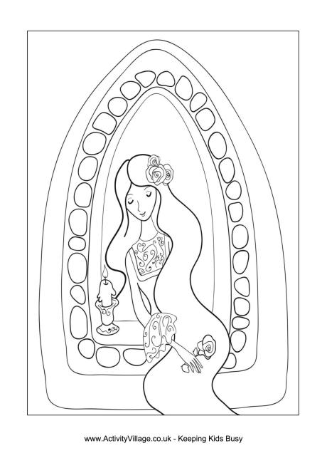 Rapunzel Colouring Page