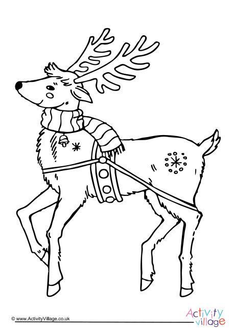 Reindeer Colouring Page 5