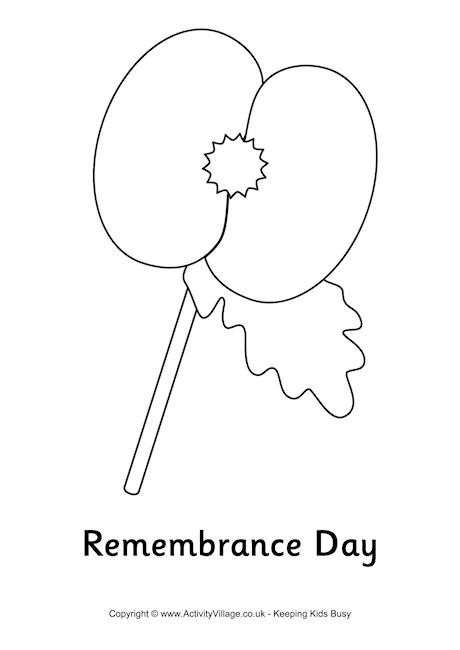 ALBORÁN ENGLISH CLUB: Colour the poppy and celebrate it