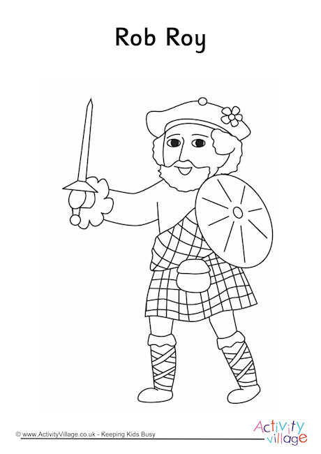 Rob Roy Colouring Page