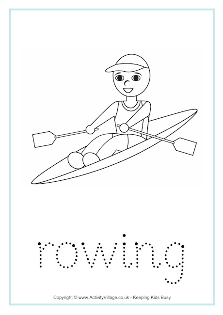 Rowing Word Tracing