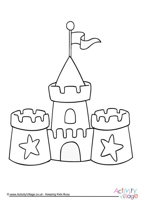 Sandcastle Colouring Page