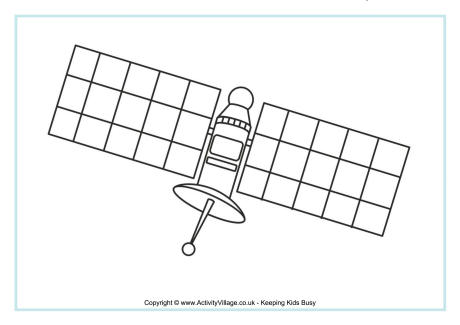 Satellite Colouring Page