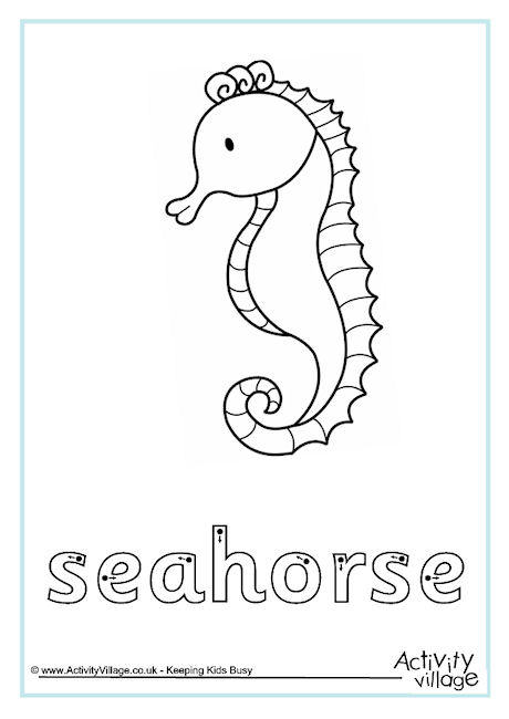 Seahorse Finger Tracing