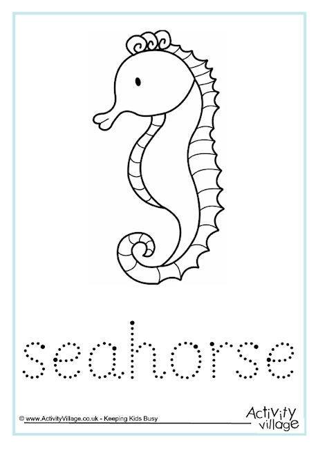 Seahorse Word Tracing