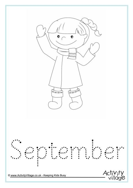 September Word Tracing