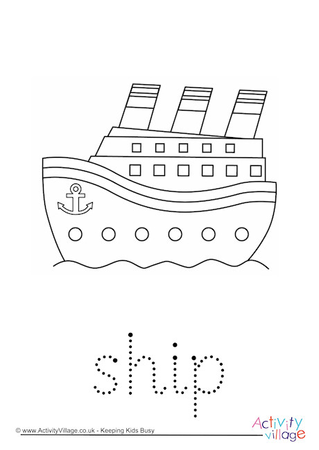 Ship Word Tracing